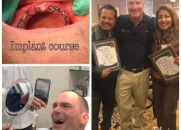 Dr. Jose Villa & Dr. Claudia Piccolo With Implant Certificate